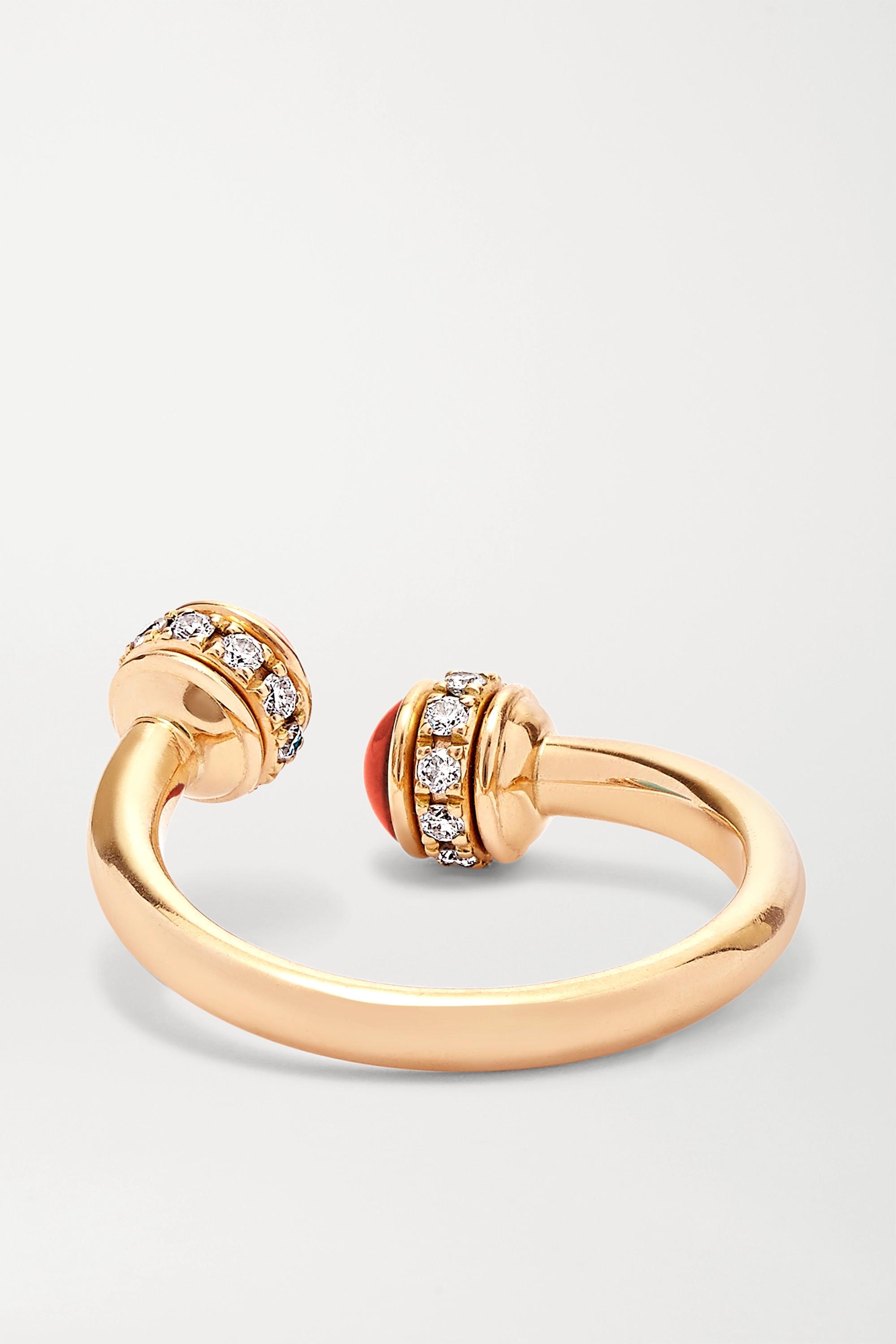 Piaget Bague en or rose 18 carats, cornalines et diamants Possession