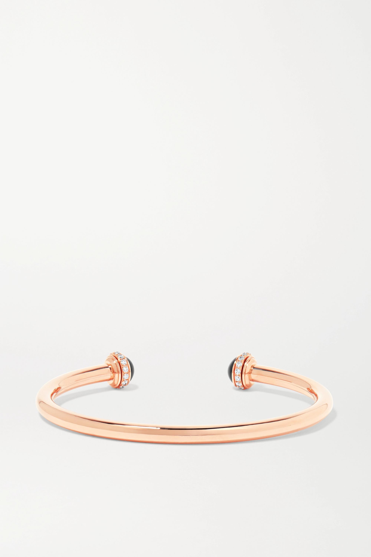 Piaget Bracelet en or rose 18 carats, onyx et diamants Possession