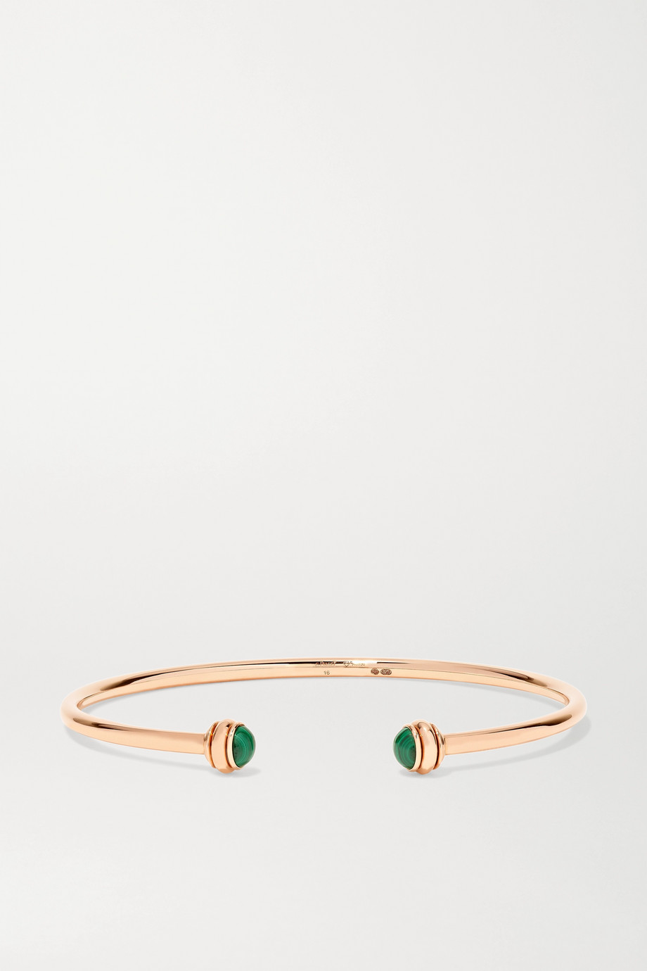 Piaget Possession 18-karat rose gold malachite cuff