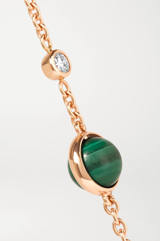 Piaget Bracelet en or rose 18 carats, malachite et diamant Possession