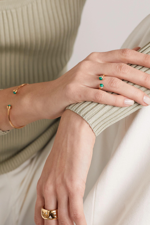 Piaget Possession Ring aus 18 Karat Roségold mit Malachiten und Diamanten