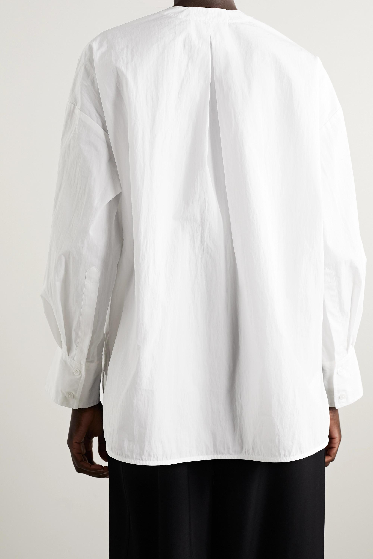 Co Cotton-blend poplin blouse