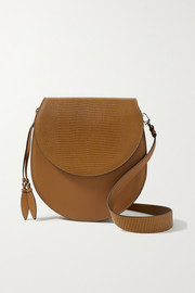 Hunting Season The Saddle leather and lizard-effect leather shoulder bag