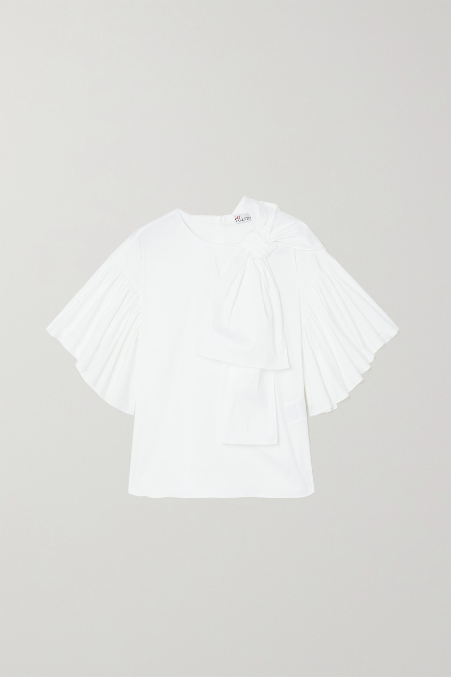 REDValentino Bow-detailed cotton-blend poplin blouse
