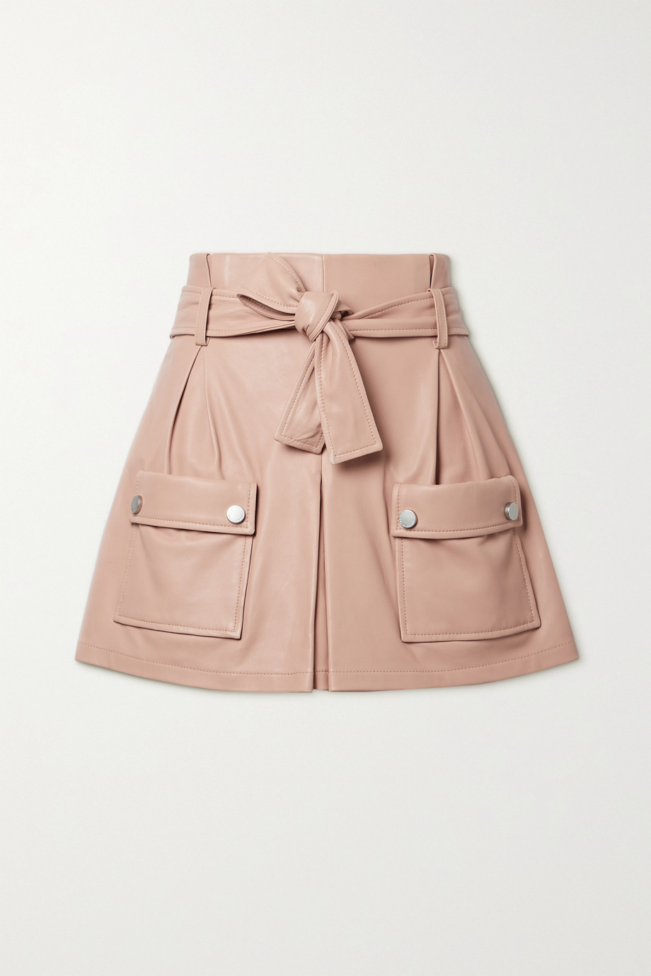 REDValentino Belted leather shorts