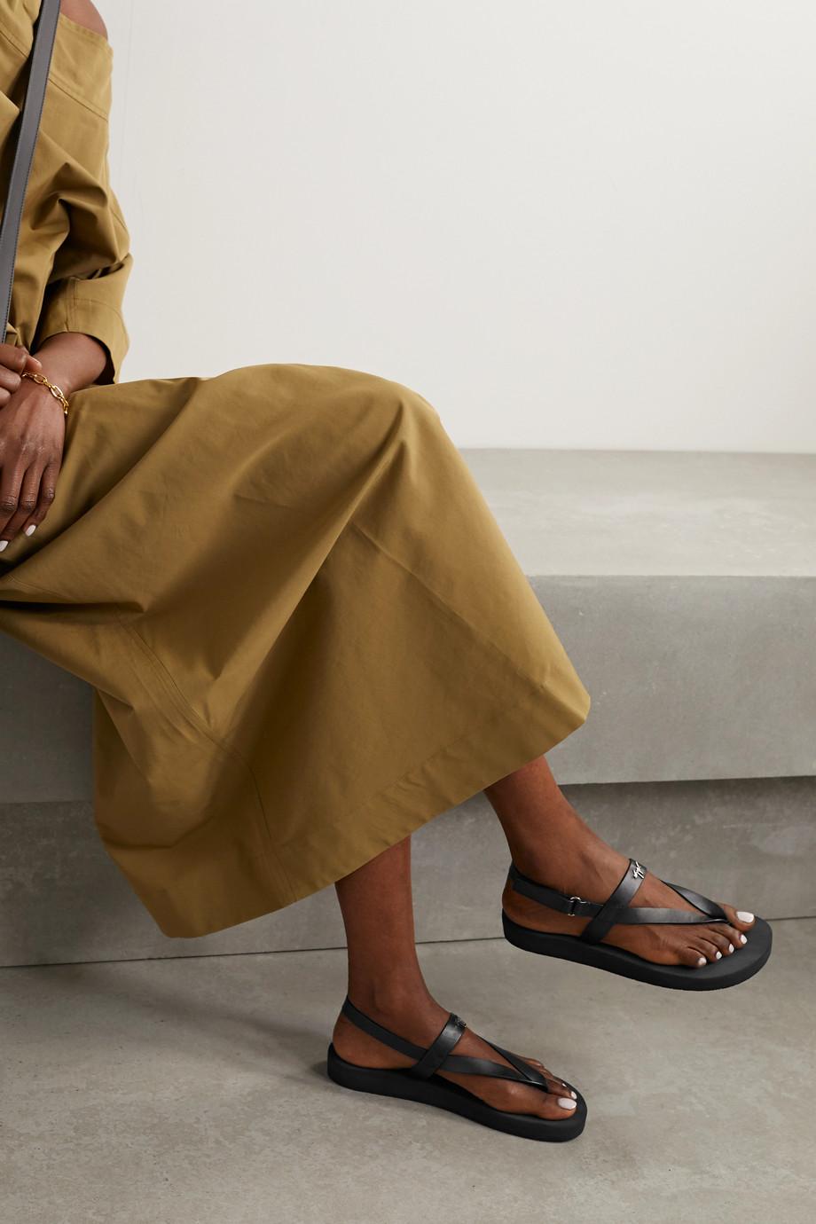 Giuseppe Zanotti Logo-embellished leather platform sandals