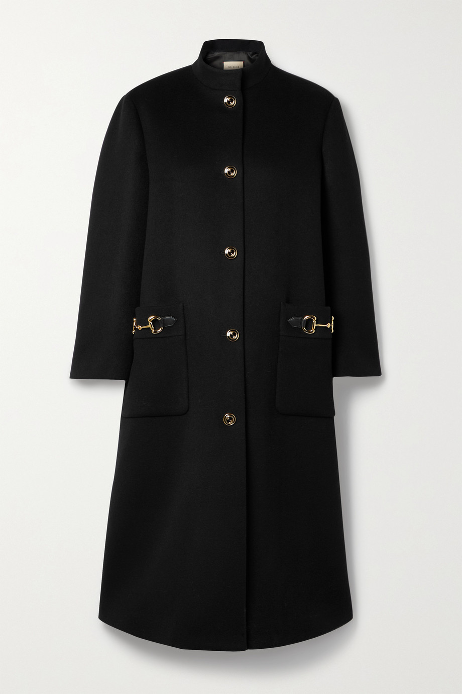 Gucci Horsebit-detailed wool-blend felt coat