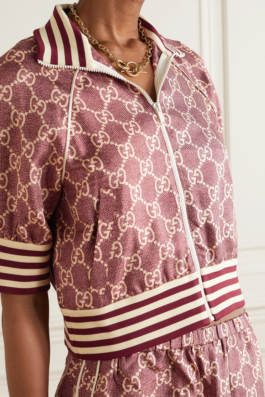 Gucci Printed silk-twill jacket