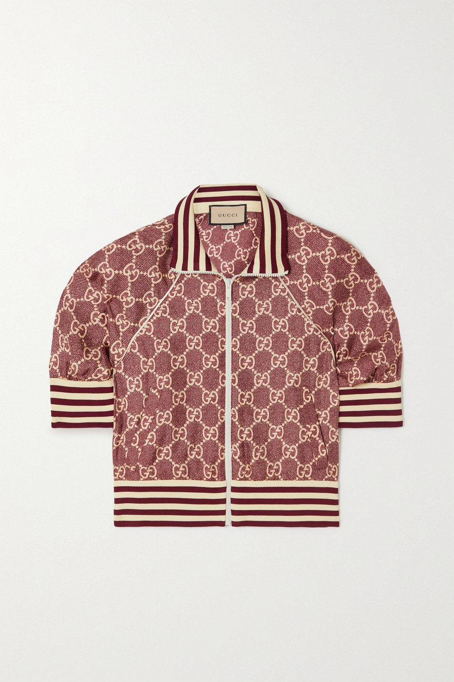 Gucci Printed silk-twill jacket