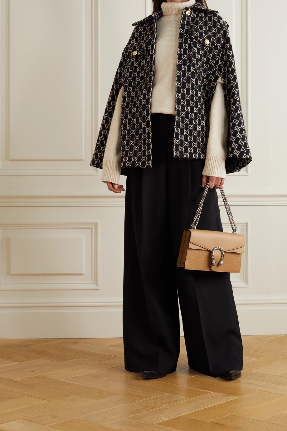 Gucci Wool-jacquard cape