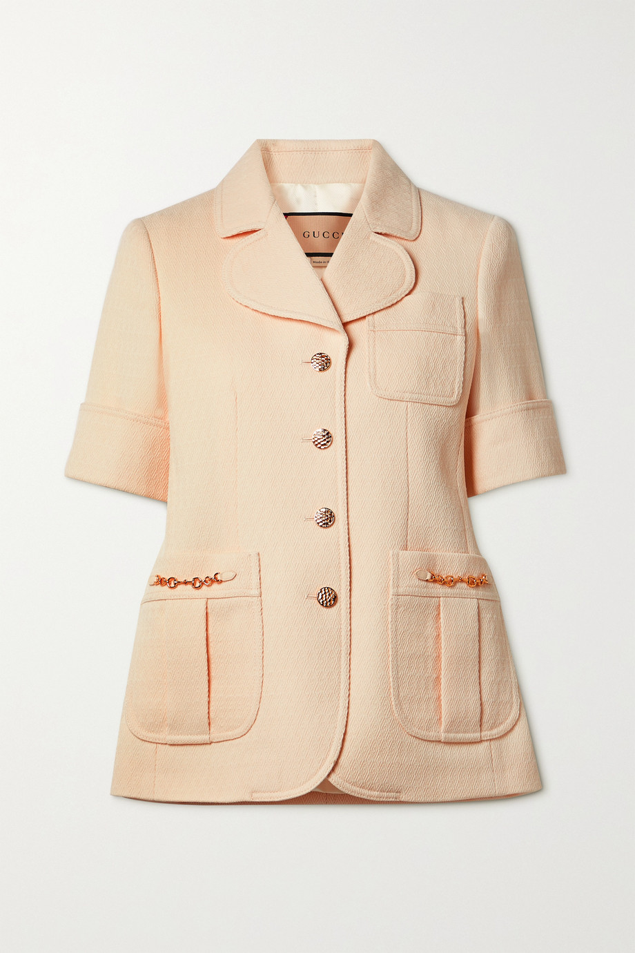 Gucci Horsebit-detailed wool-jacquard jacket