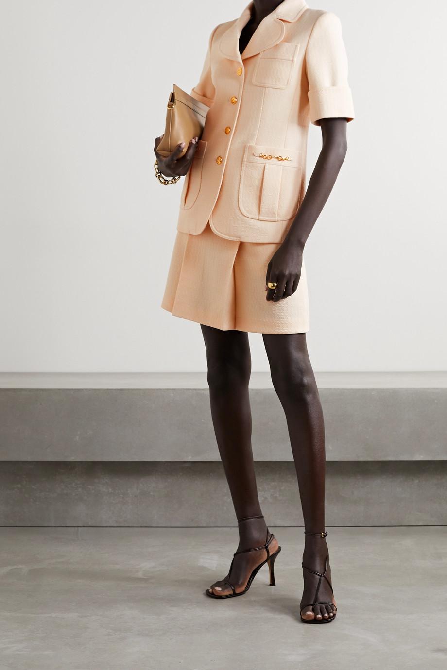 Gucci Jacke aus Woll-Jacquard mit Horsebit-Details
