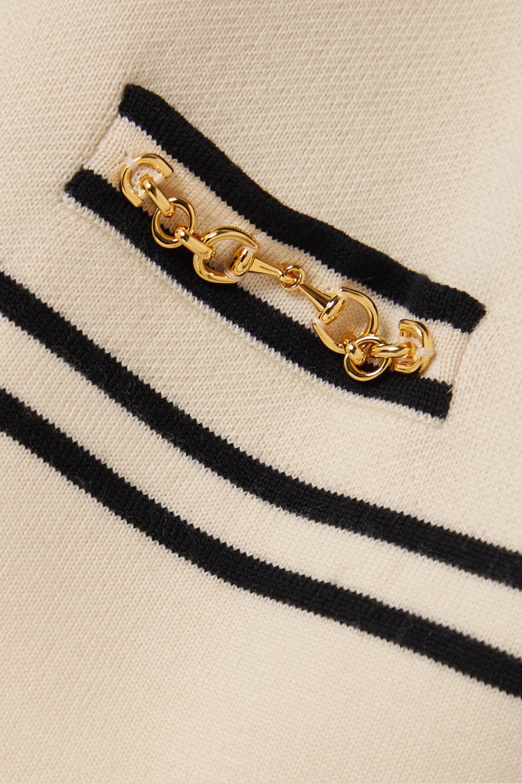 Gucci Cardigan en laine à rayures et à mors de cheval