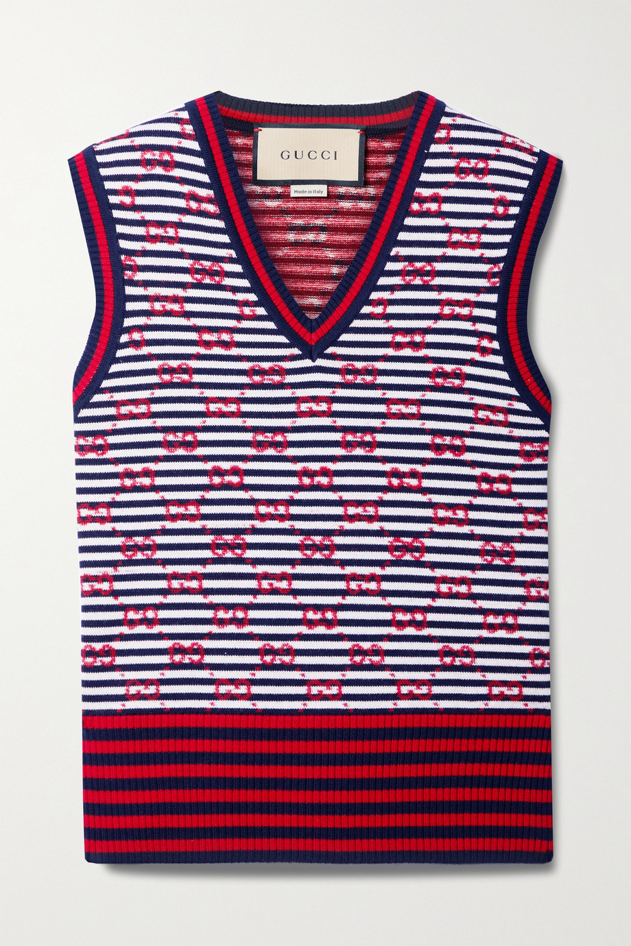 Gucci Striped intarsia wool tank