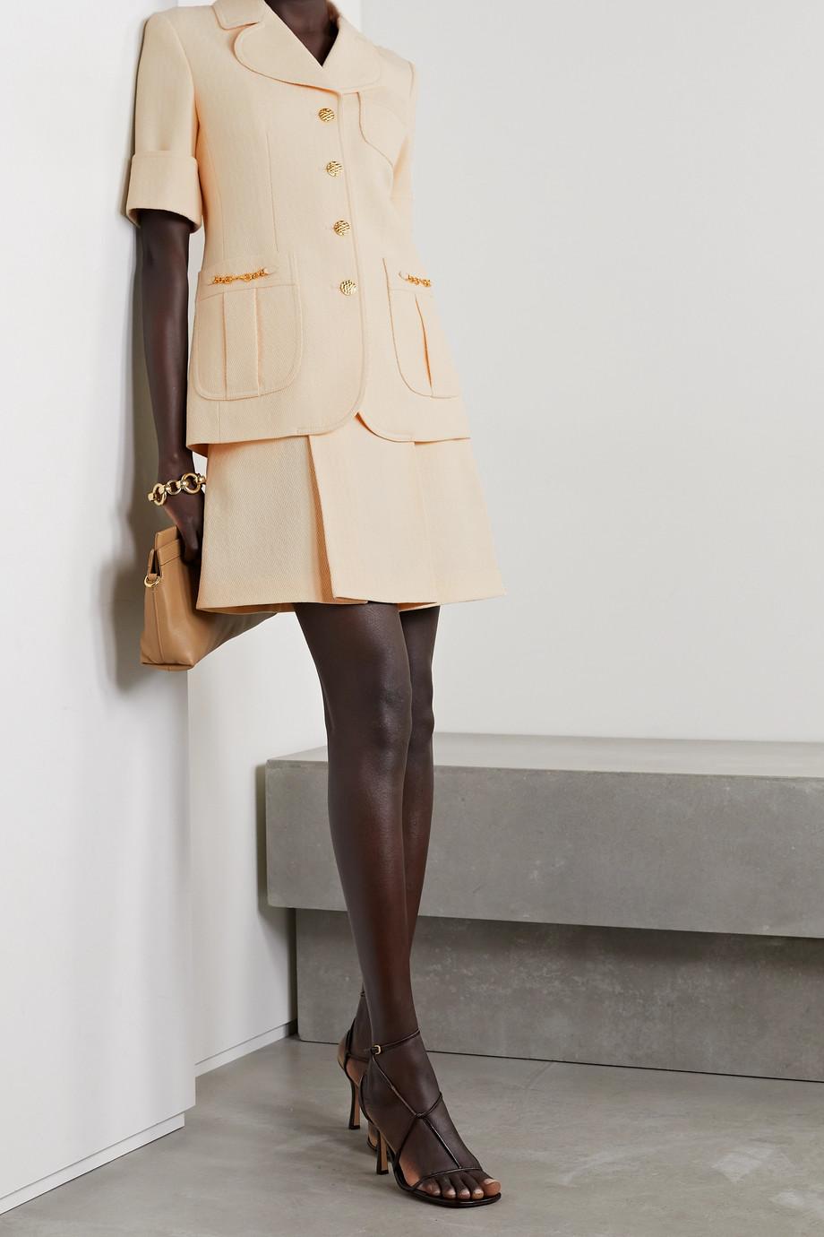 Gucci Horsebit-detailed wool-jacquard mini skirt