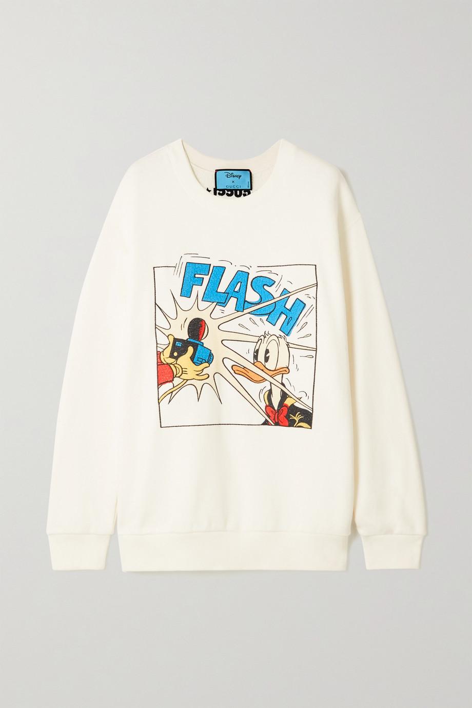 Gucci + NET SUSTAIN + Disney embroidered organic cotton-jersey sweatshirt