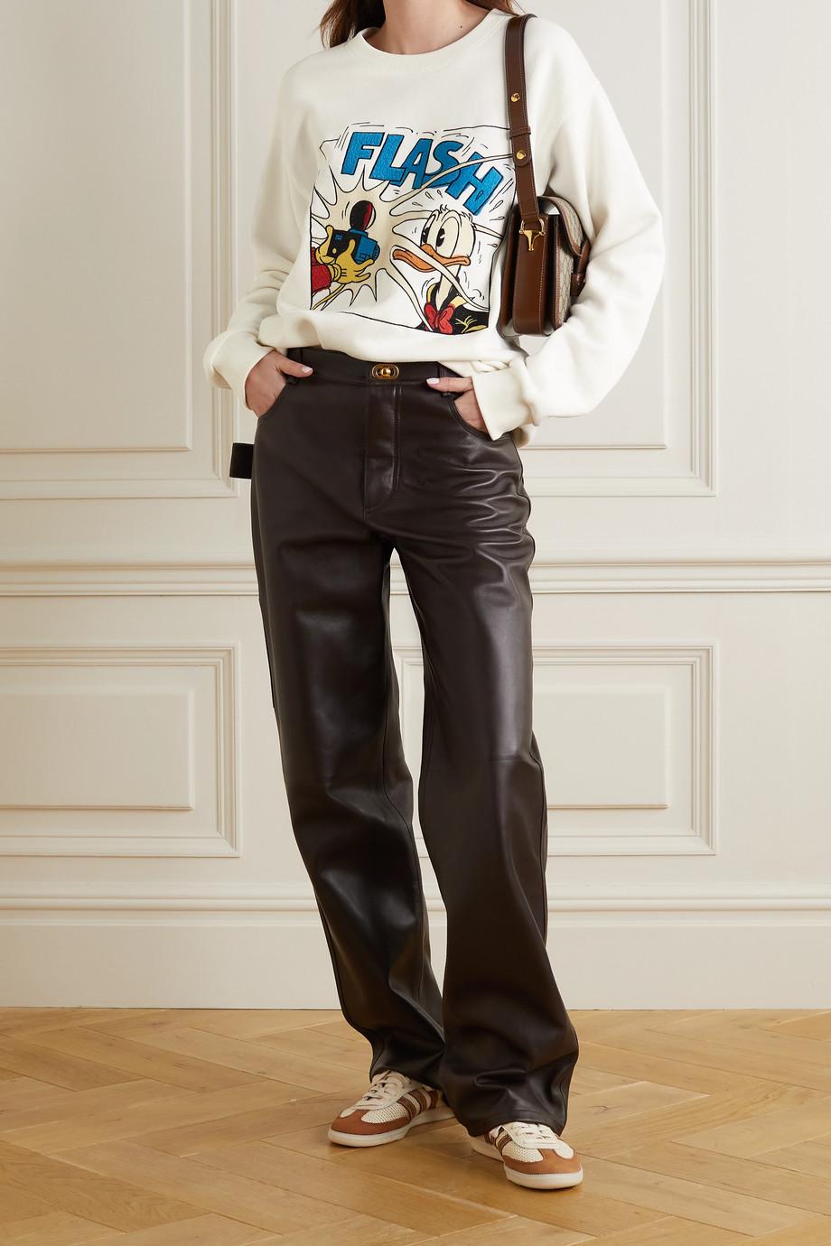Gucci + NET SUSTAIN + Disney Sweatshirt aus Biobaumwoll-Jersey mit Stickereien