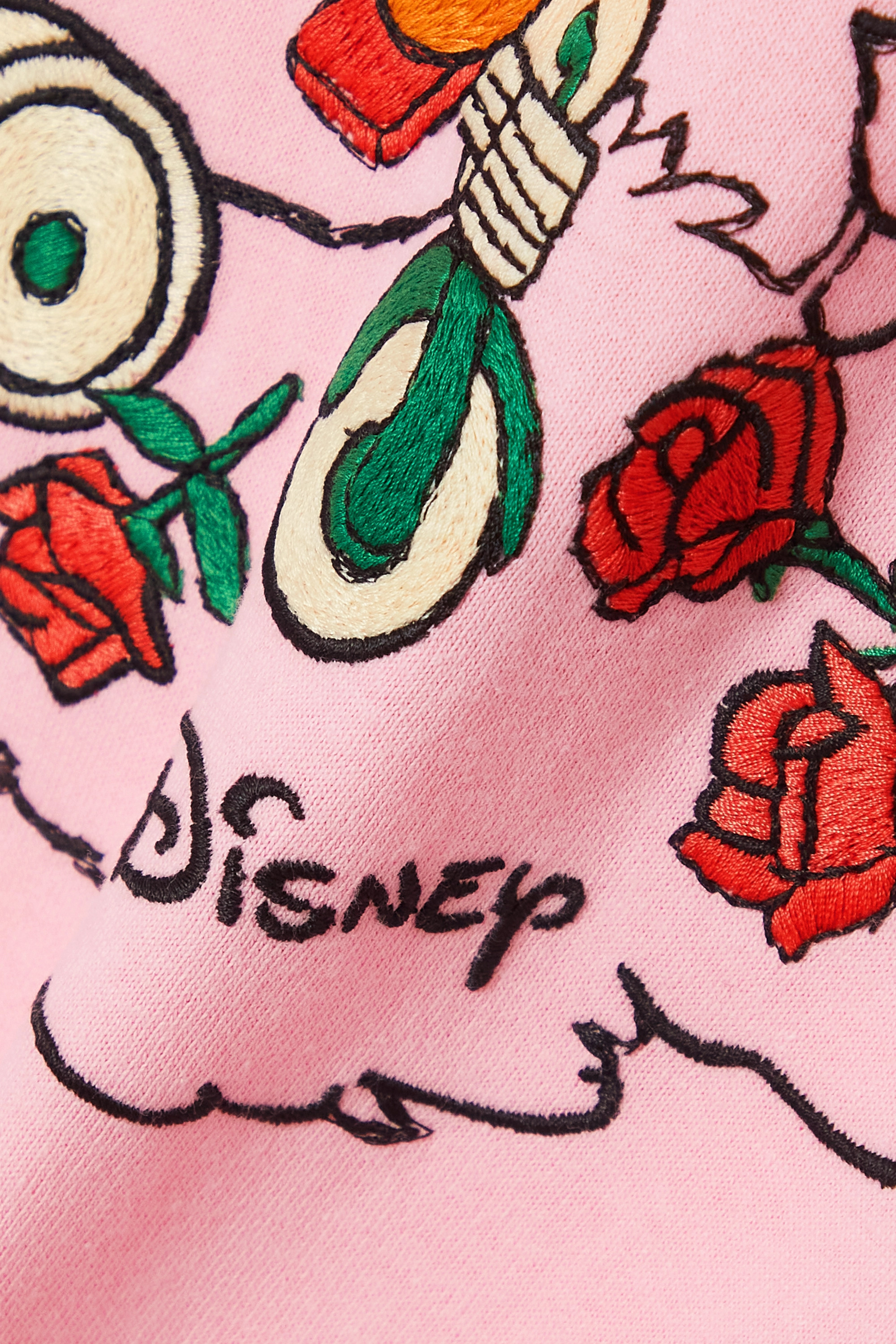 Gucci + NET SUSTAIN + Disney embroidered organic cotton-jersey T-shirt