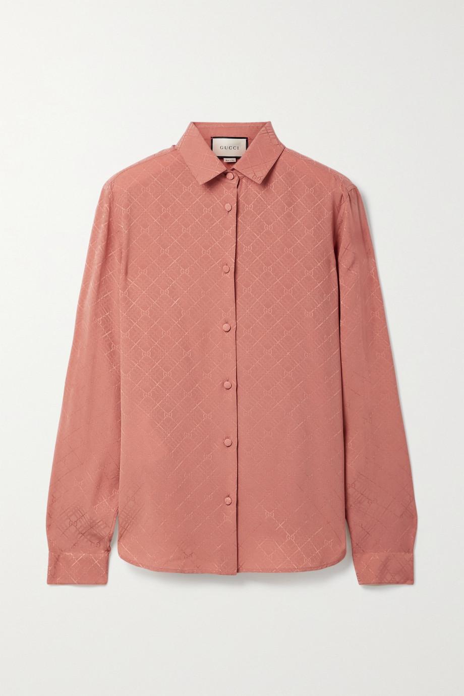 Gucci Hemd aus Seiden-Crêpe mit Karomuster
