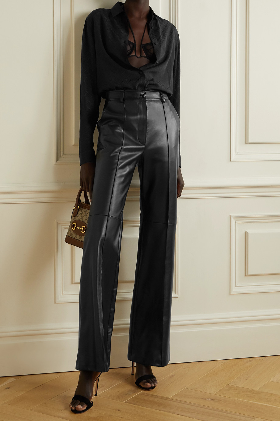 Gucci Checked silk-crepe shirt