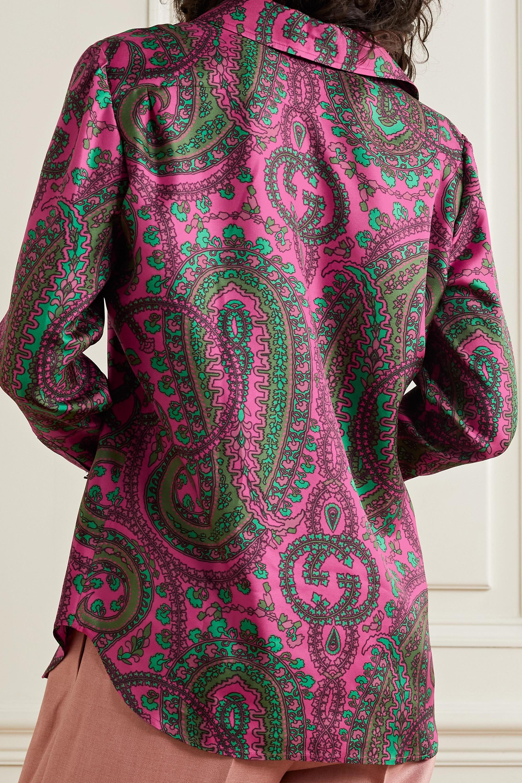 Gucci Paisley-print silk-twill shirt