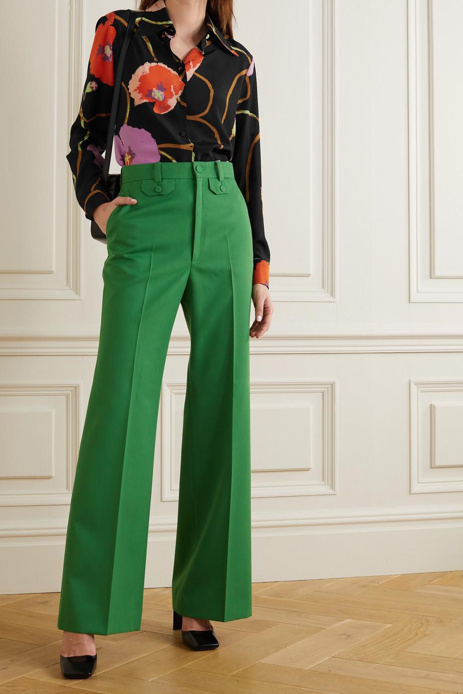 Gucci + Ken Scott floral-print silk crepe de chine shirt