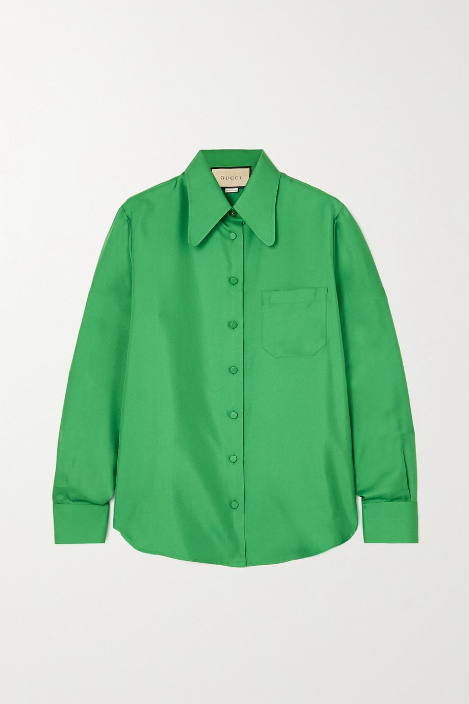 Gucci Hemd aus Seiden-Twill