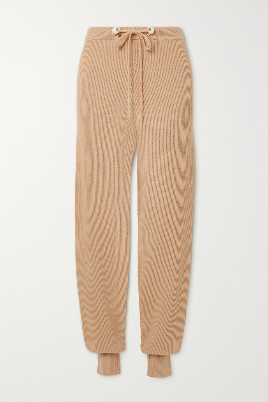 Mother of Pearl + NET SUSTAIN ribbed organic cotton and wool-blend track pants