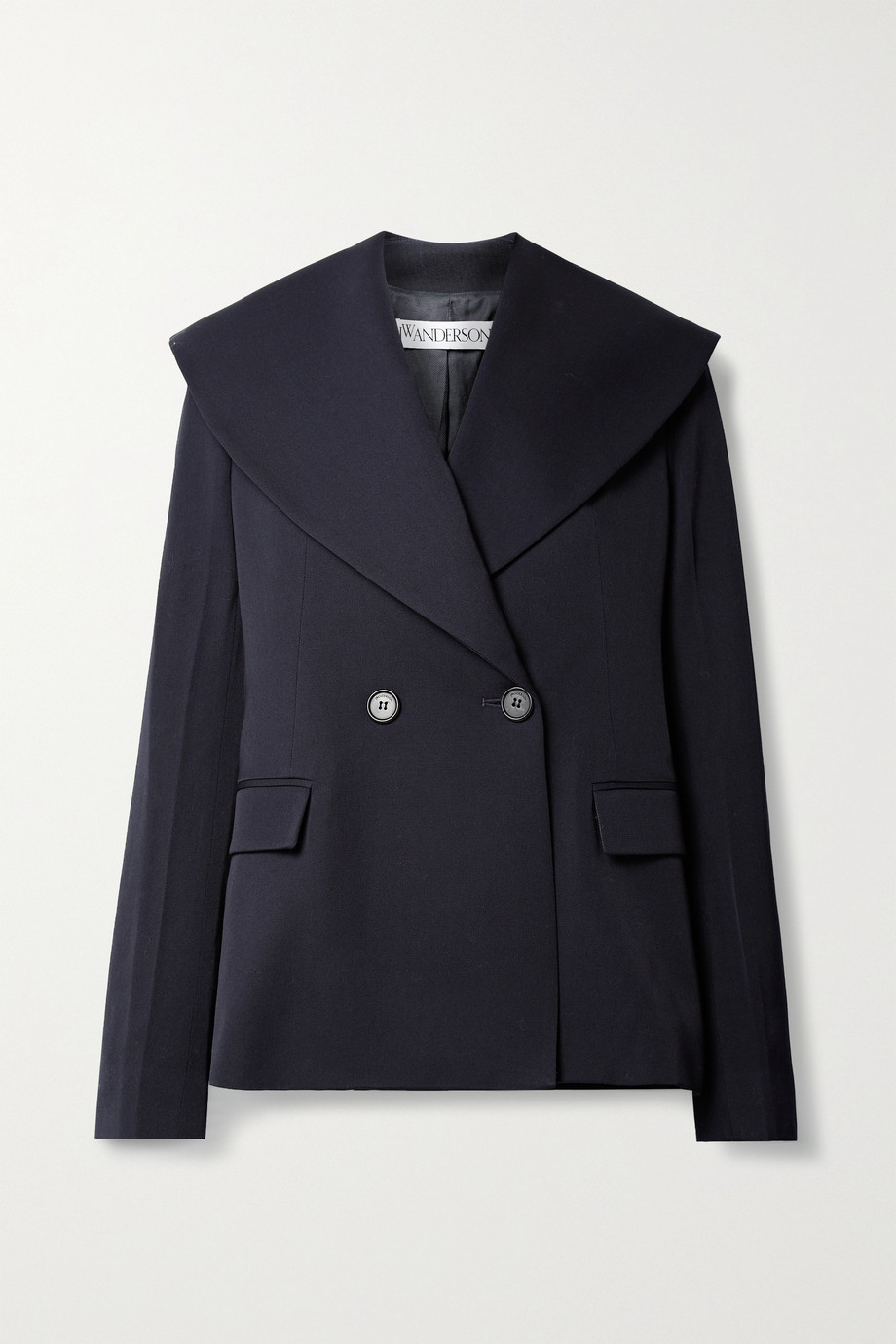 JW Anderson Double-breasted wool-twill blazer