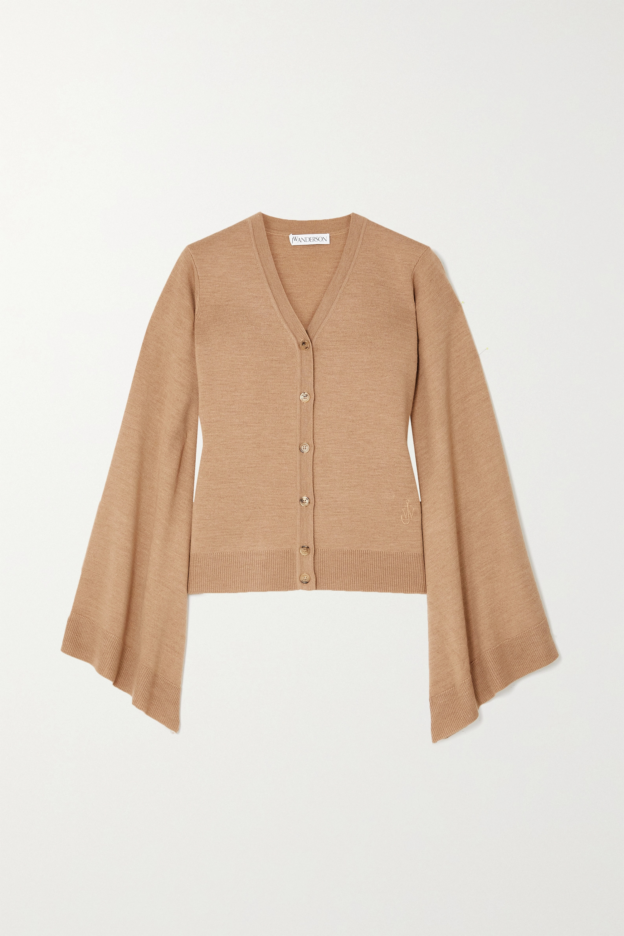 JW Anderson Wing draped merino wool cardigan