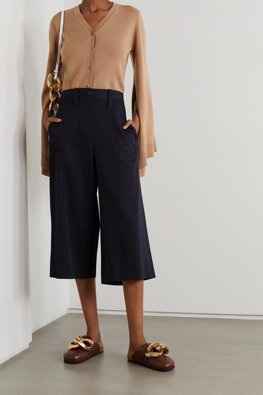 JW Anderson Cropped wool-twill wide-leg pants