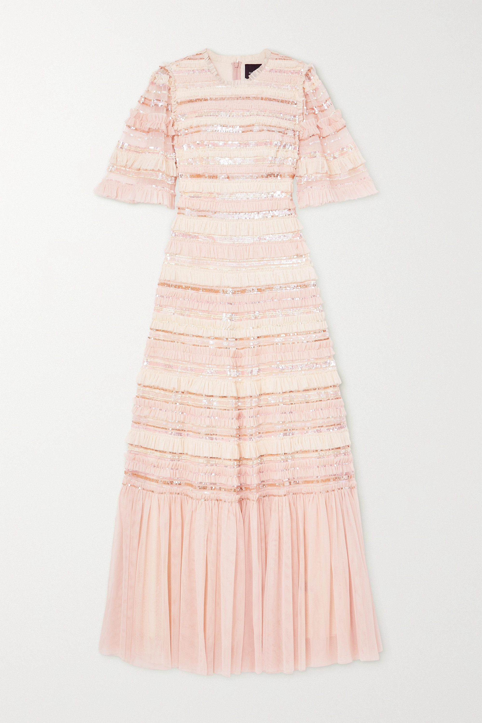 Needle & Thread Nancy sequin-embellished ruffled tulle gown