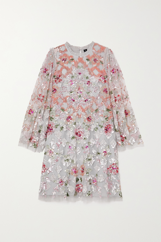 Needle & Thread Harlequin Rose sequin-embellished tulle mini dress