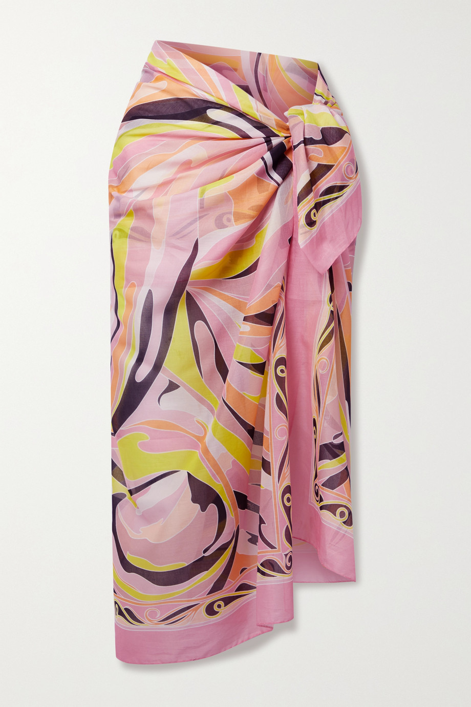 Emilio Pucci + NET SUSTAIN Vetrate printed cotton-voile pareo