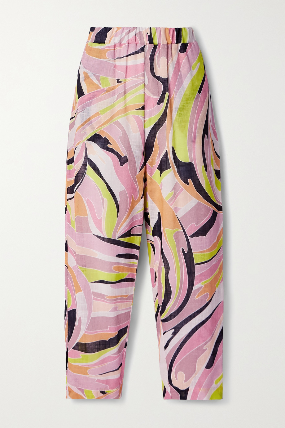 Emilio Pucci Printed cotton-gauze straight-leg pants