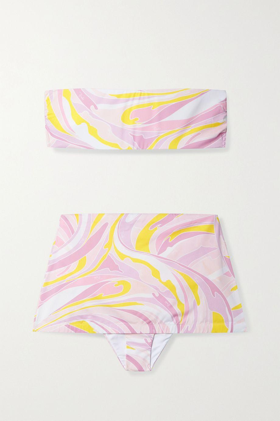 Emilio Pucci Printed bandeau bikini