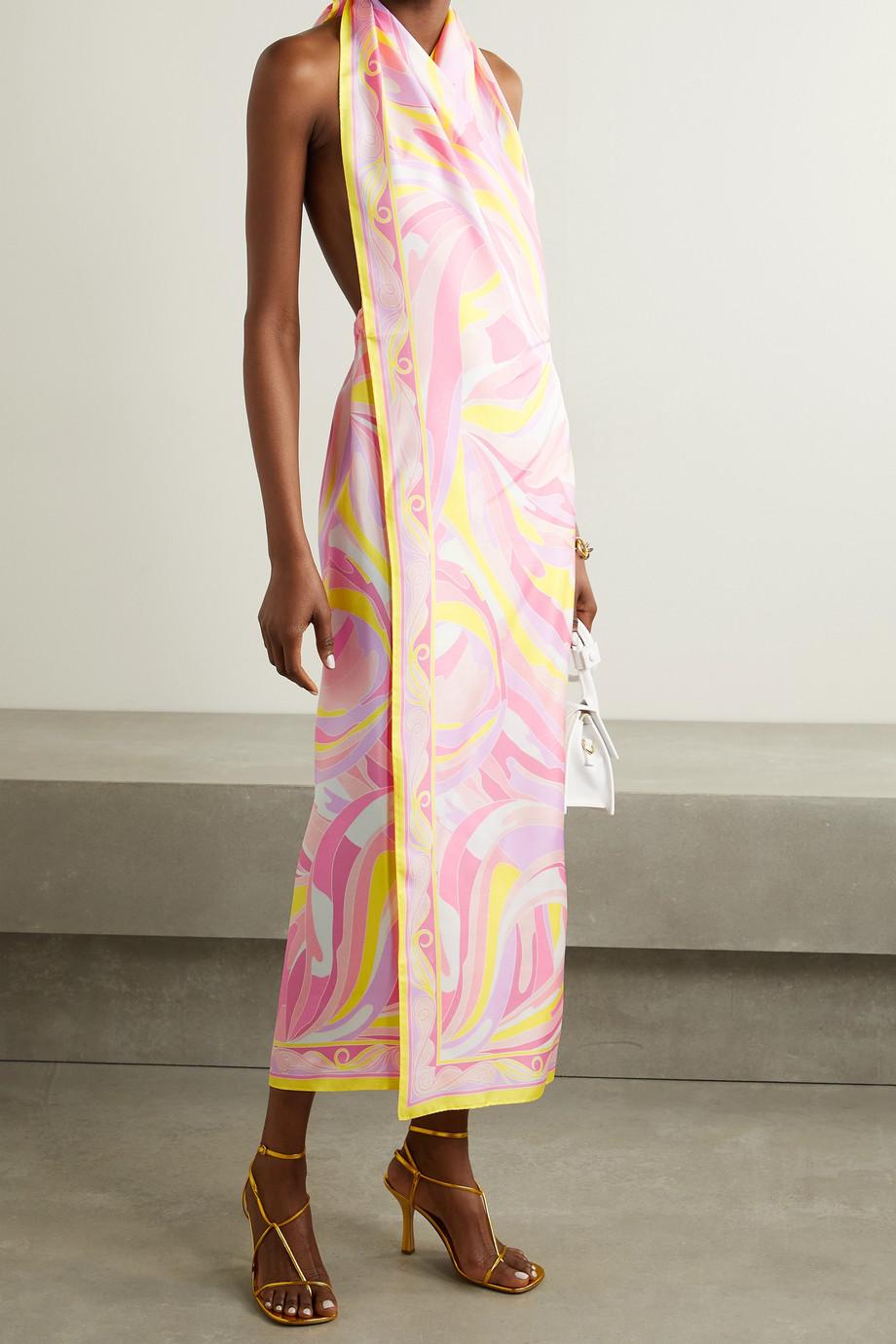 Emilio Pucci + NET SUSTAIN printed silk-twill dress