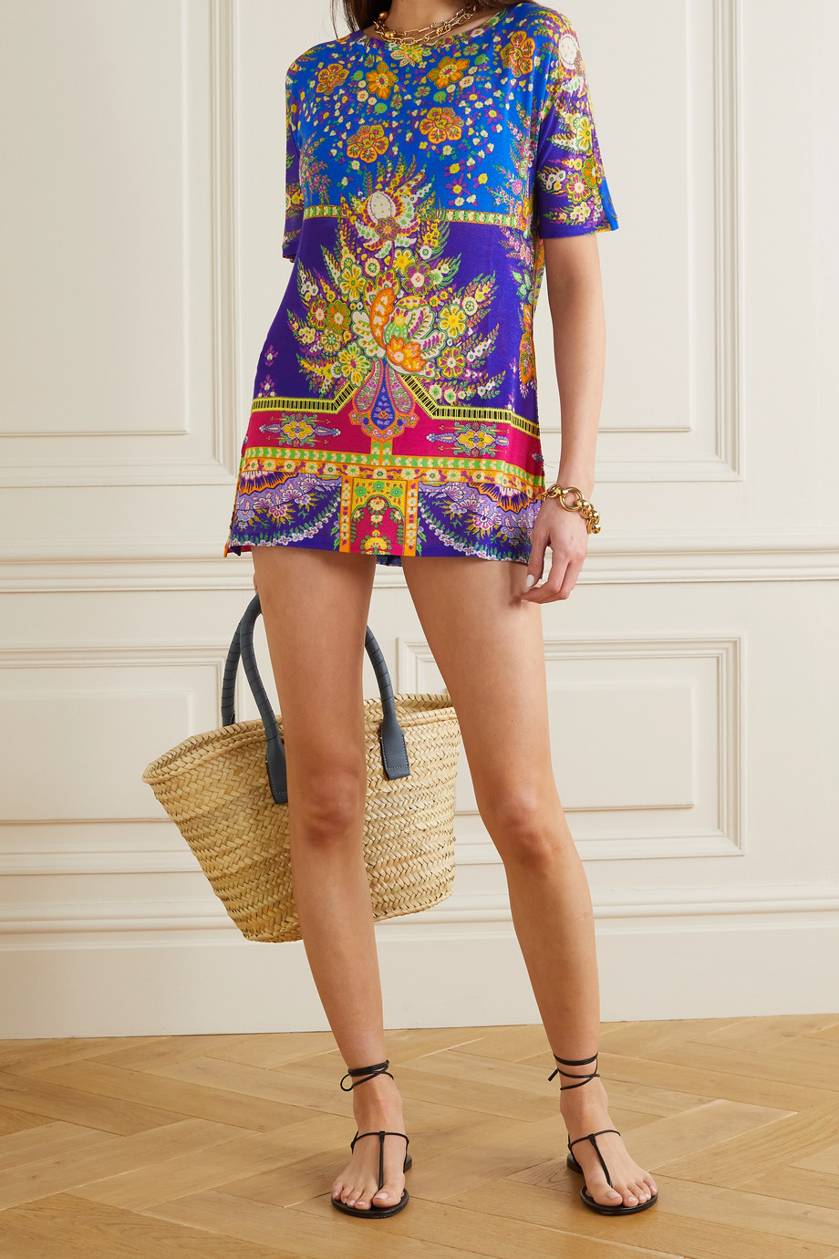 Etro Milo printed voile mini dress