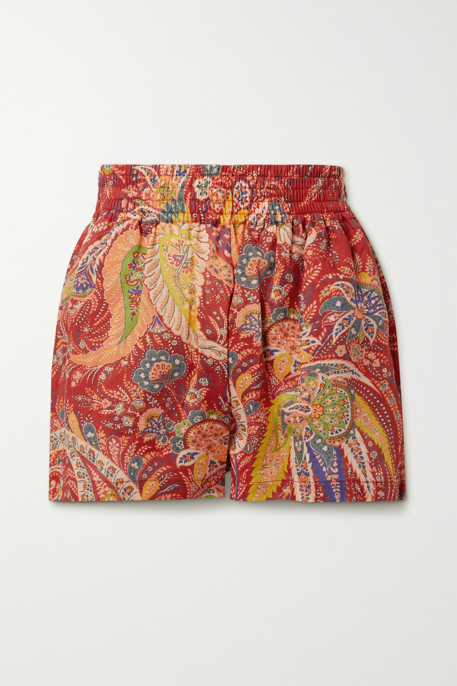 Etro Cipro paisley-print ramie shorts