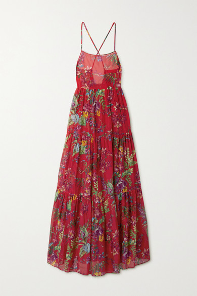 Etro Cottons PALMARIA FLORAL-PRINT COTTON AND SILK-BLEND MAXI DRESS