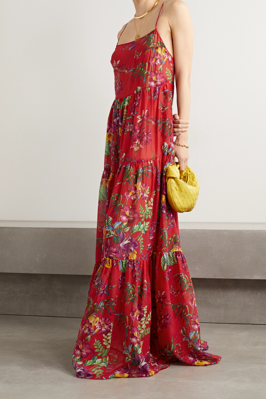 Etro Palmaria floral-print cotton and silk-blend maxi dress