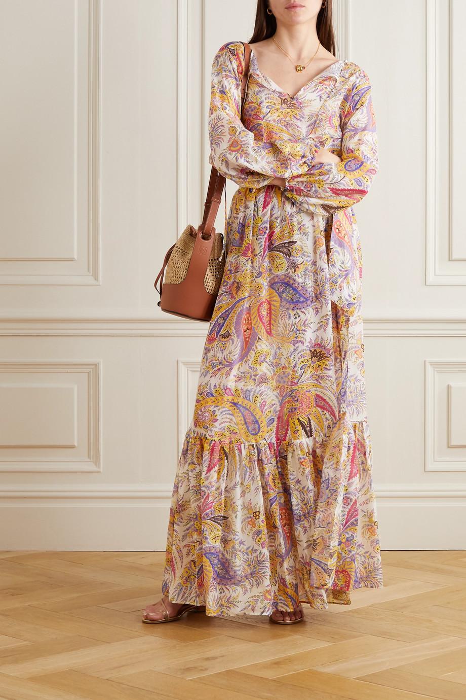 Etro Zante paisley-print cotton and silk-blend chiffon maxi skirt