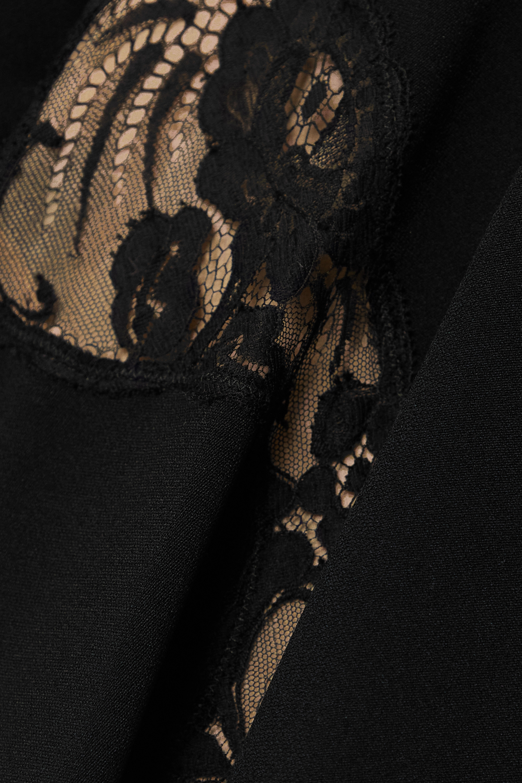Stella McCartney + NET SUSTAIN Celeste asymmetric lace-paneled cady mini dress