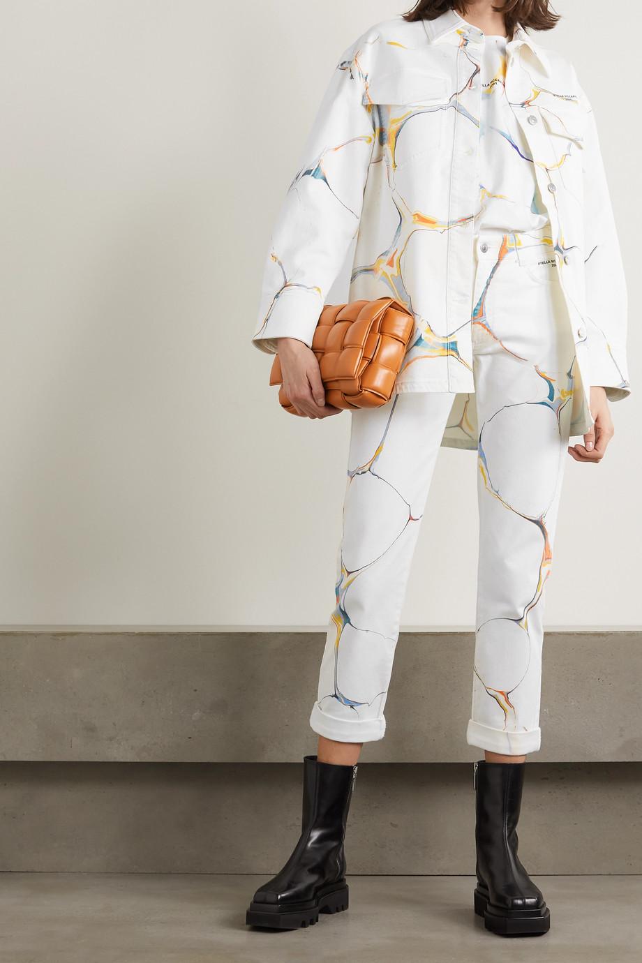 Stella McCartney + NET SUSTAIN oversized printed organic denim jacket
