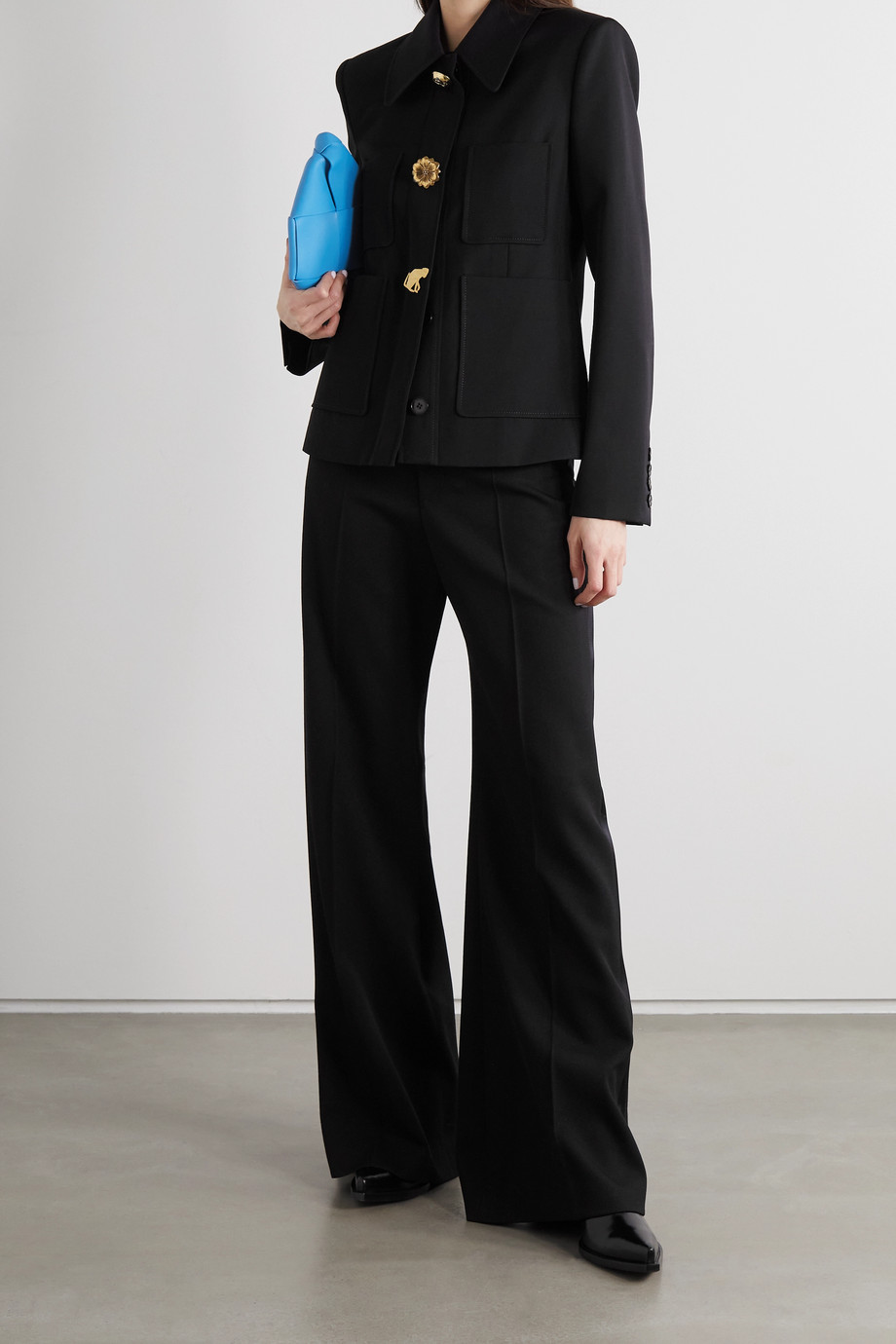 Stella McCartney + NET SUSTAIN Elisabeth wool-twill blazer