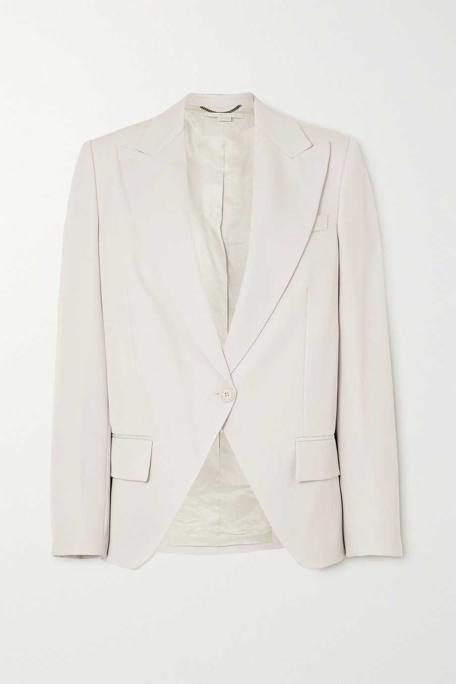 Stella McCartney + NET SUSTAIN Lindsey wool-twill blazer