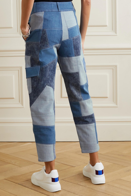 Stella McCartney + NET SUSTAIN patchwork organic tapered jeans