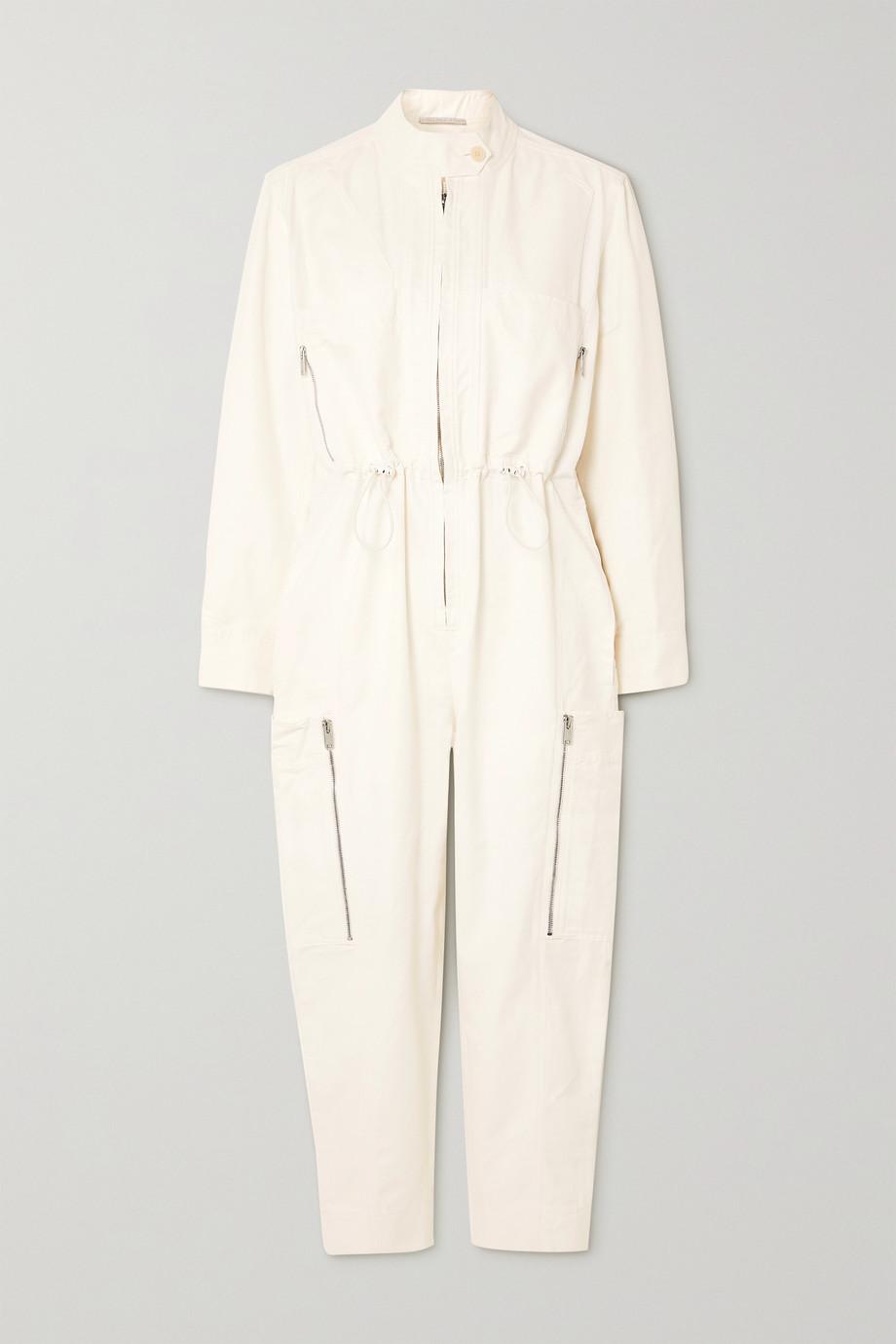 Stella McCartney Zip-detailed twill jumpsuit