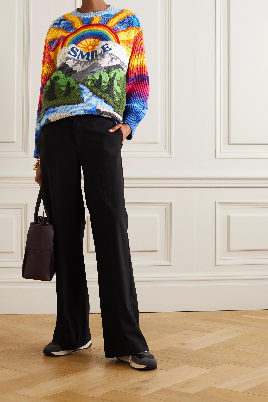 Stella McCartney Kind intarsia wool and cotton-blend sweater