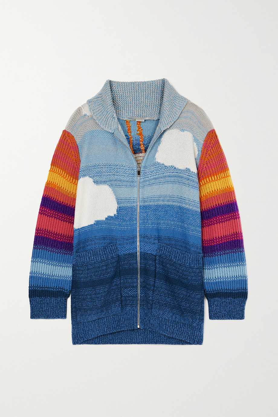 Stella McCartney Kind intarsia wool and cotton-blend cardigan